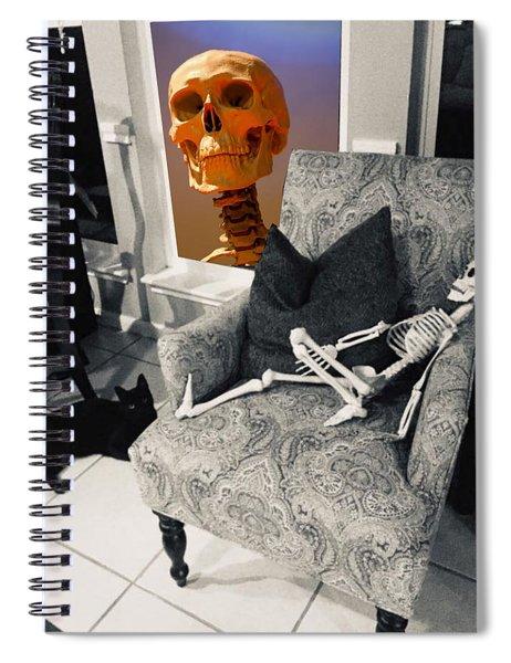 Halloween Window Dressing Spiral Notebook