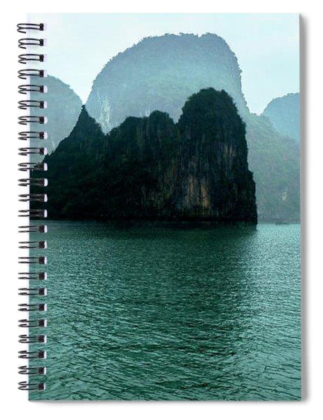 Halong Bay Mountains, Vietnam Spiral Notebook