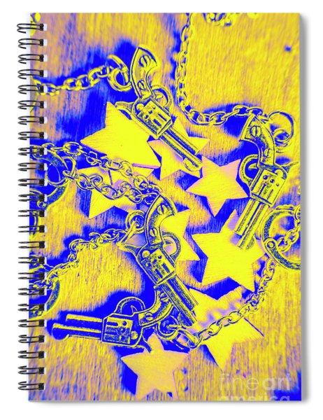Handguns, Chains And Handcuffs Spiral Notebook