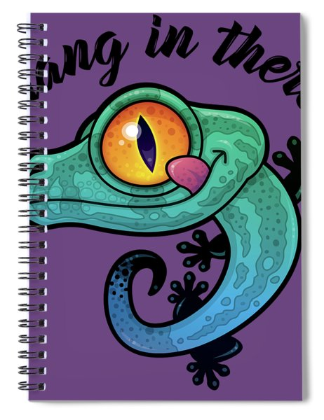 Hang In There Colorful Gecko Spiral Notebook