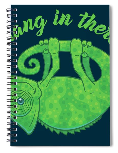 Hang In There Magical Chameleon Spiral Notebook