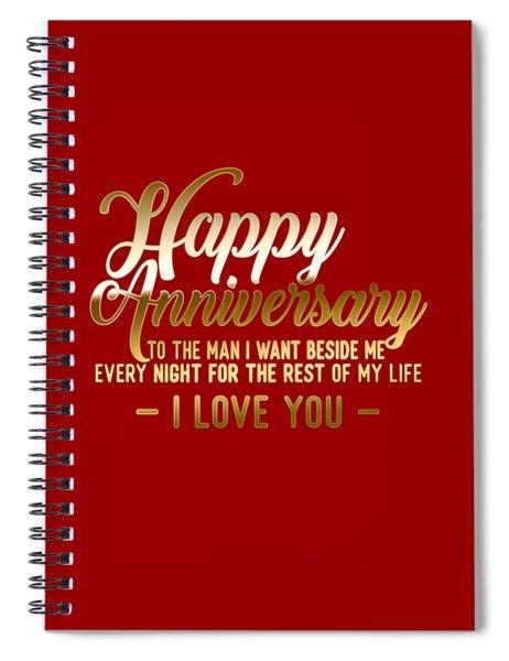 Happy Anniversary Spiral Notebook