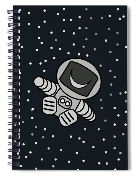 Happy Astronaut Spiral Notebook