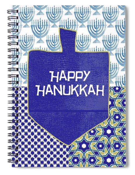 Happy Hanukkah Dreidel 1- Art By Linda Woods Spiral Notebook