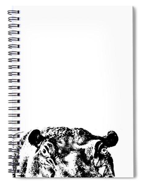 Happy Happy Hippo Spiral Notebook