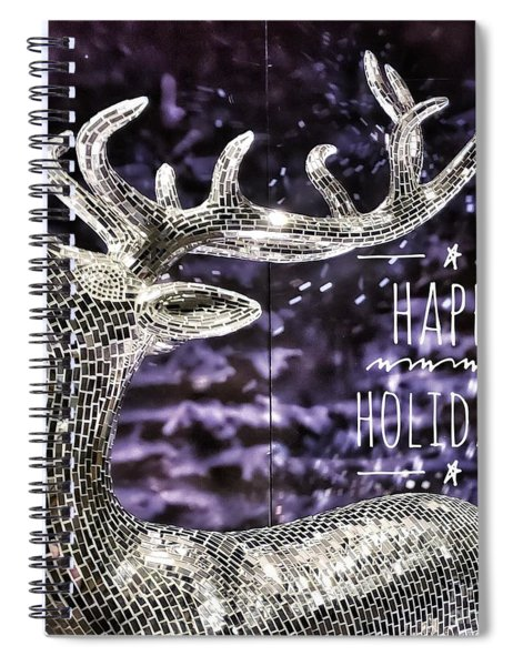 Happy Holiday Sparkle Spiral Notebook