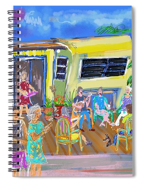 Happy Hours Spiral Notebook