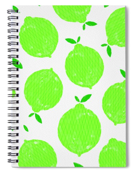 Happy Lime Print Spiral Notebook