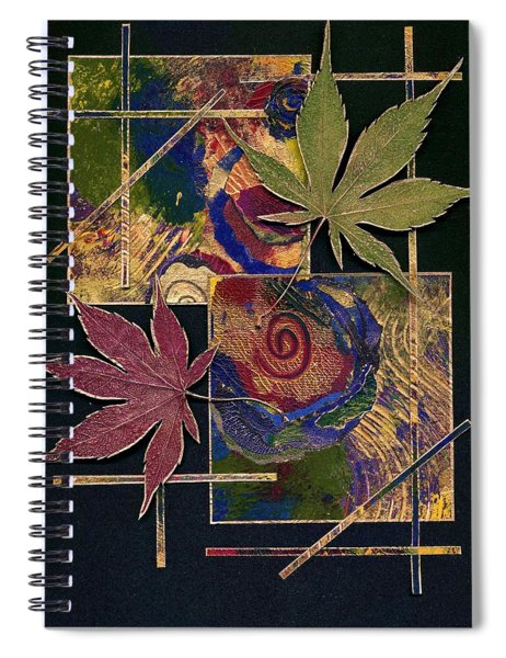 Spiral Notebook featuring the mixed media Happy Marriage by Koka Filipovic