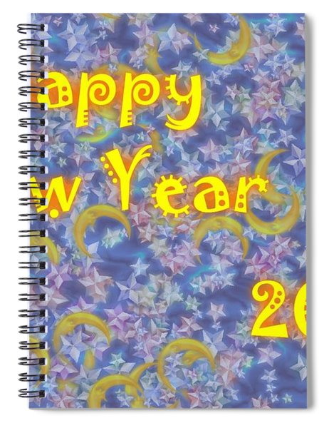 Happy New Year 2019 Spiral Notebook