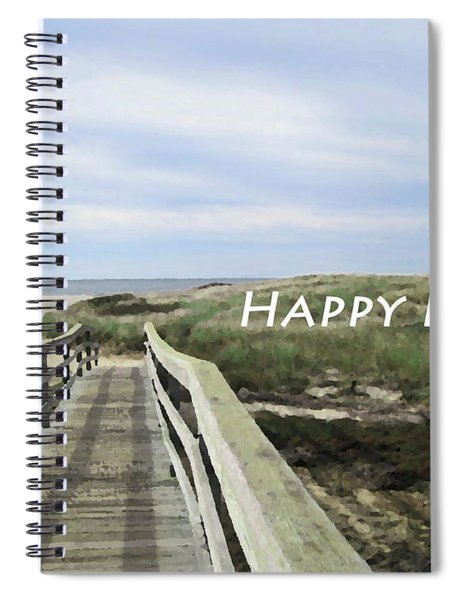 Happy Place Beach Poster Spiral Notebook