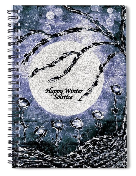 Happy Winter Solstice Greeting Spiral Notebook