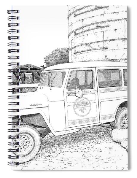 Harvest At Magnolia - Ink Spiral Notebook