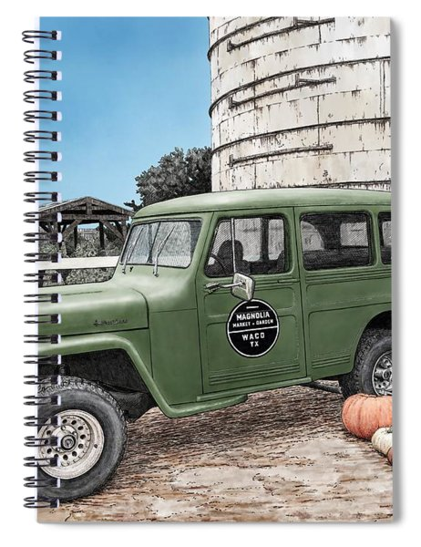Harvest At Magnolia Spiral Notebook