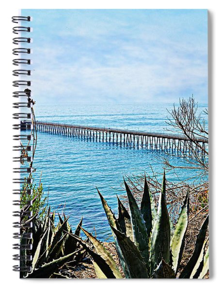 Haskell Beach Pier Spiral Notebook