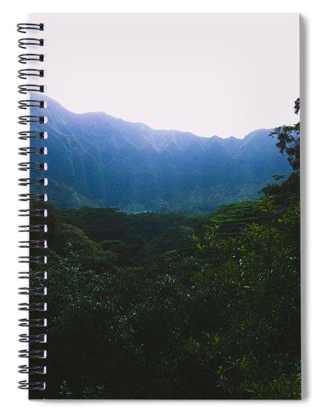 Hawaiian Cliffside Spiral Notebook