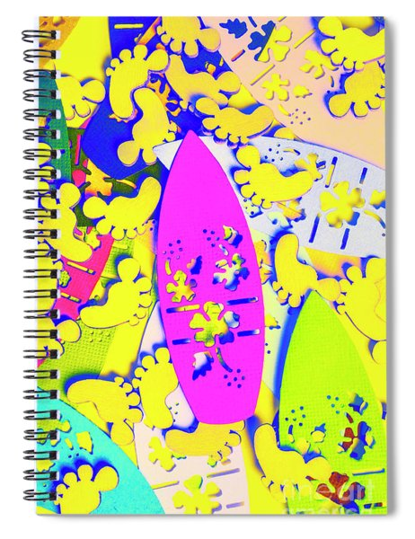 Hawaiian Design Spiral Notebook