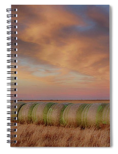 Hay Bales On The High Plains Spiral Notebook
