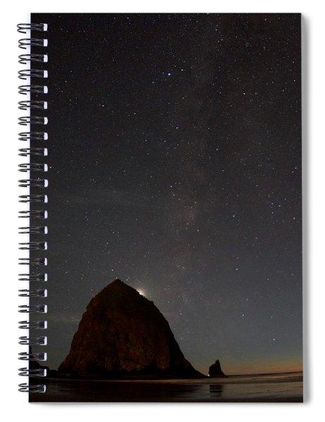 Haystack Night Under The Stars Spiral Notebook