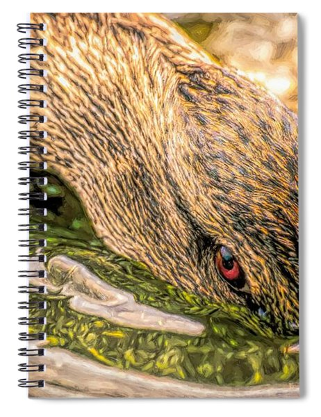 Head Dunking Duck Toned Spiral Notebook
