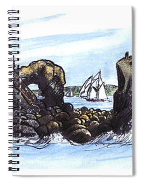 Head Harbour Light 1890 Spiral Notebook