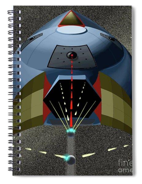 Head On Attack Spiral Notebook