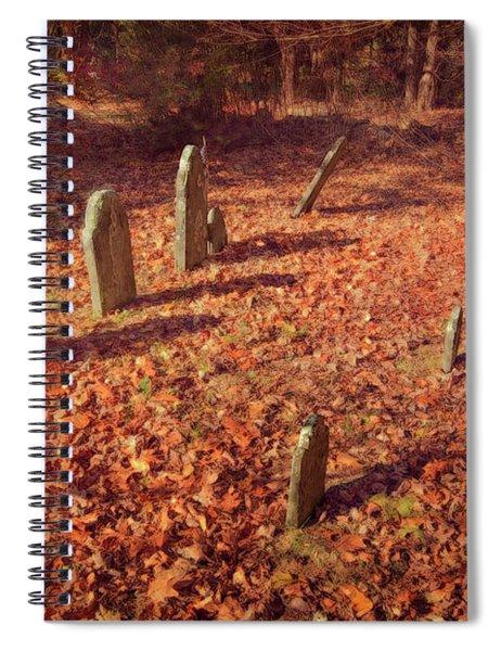 Headstones And Footstones Forgotten Spiral Notebook