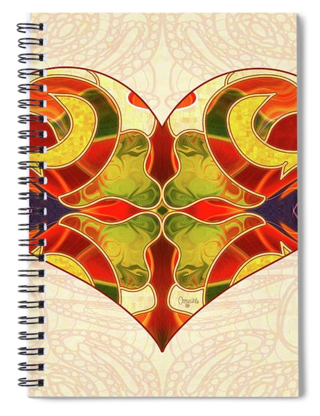 Heart Illustration - Creating Passionate Experience - Omaste Witkowski Spiral Notebook