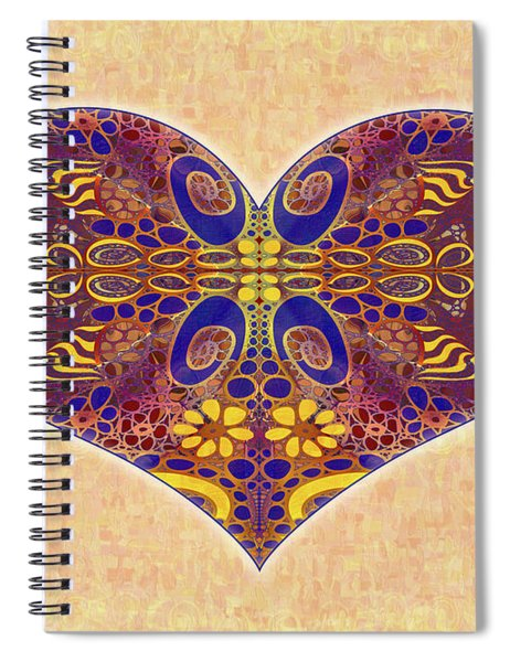 Heart Illustration - Exploding Possibilities - Omaste Witkowski Spiral Notebook