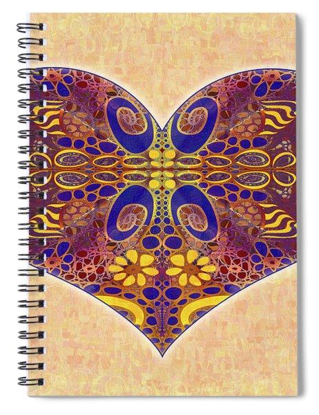 Heart Illustration - Exploding Possibilities - Omaste Witkowski Spiral Notebook