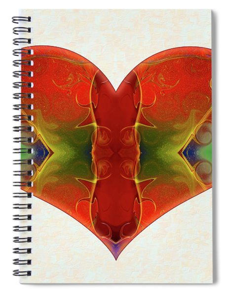 Heart Painting - Vibrant Dreams - Omaste Witkowski Spiral Notebook