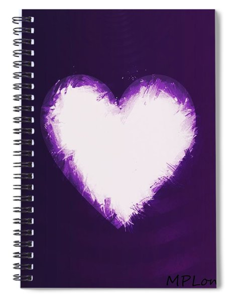 Heart Of Purple Spiral Notebook