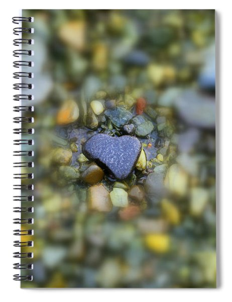 Spiral Notebook featuring the photograph Heart Of Stone Maine by Patti Whitten