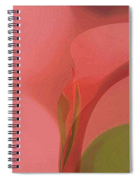Spiral Notebook featuring the digital art Heart Of The Matter by Gina Harrison