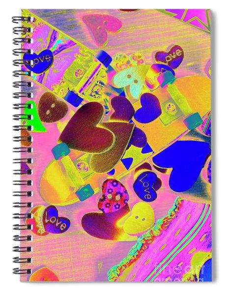 Heart Stack - Fallen For Sk8 Spiral Notebook