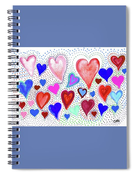 Hearts 1003 Spiral Notebook