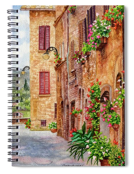 Hearts A'bloom II Spiral Notebook