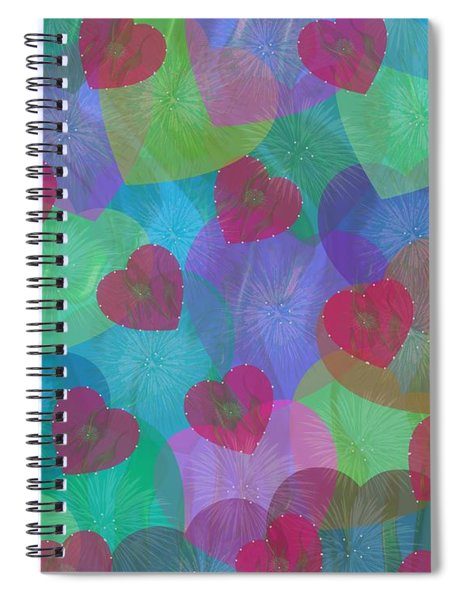 Hearts Aflame Spiral Notebook