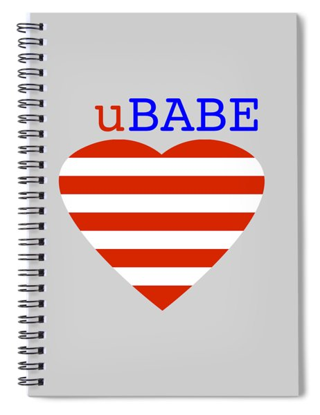 Hearts And Stripes Spiral Notebook