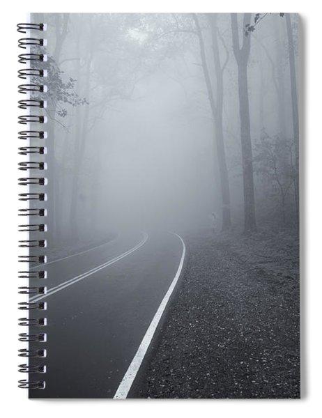 Heavy Fog Ahead Mono 2 Spiral Notebook