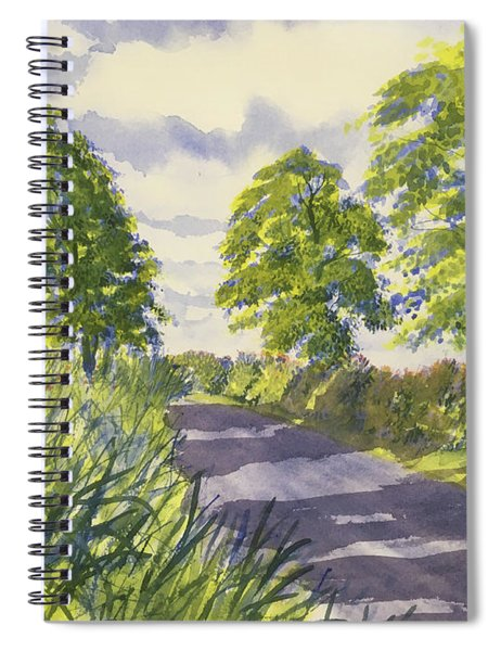 Hedgerows On Rudston Road Spiral Notebook