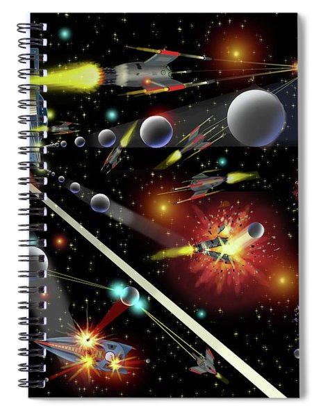 Hell In Space Spiral Notebook