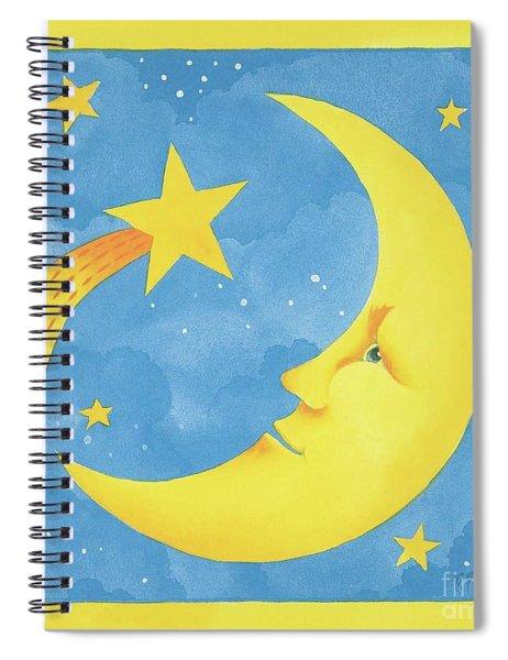 Hello Moon Spiral Notebook