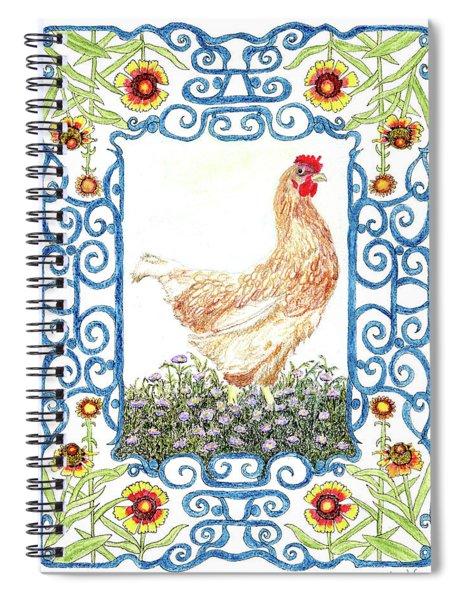 Hen In The Garden Spiral Notebook