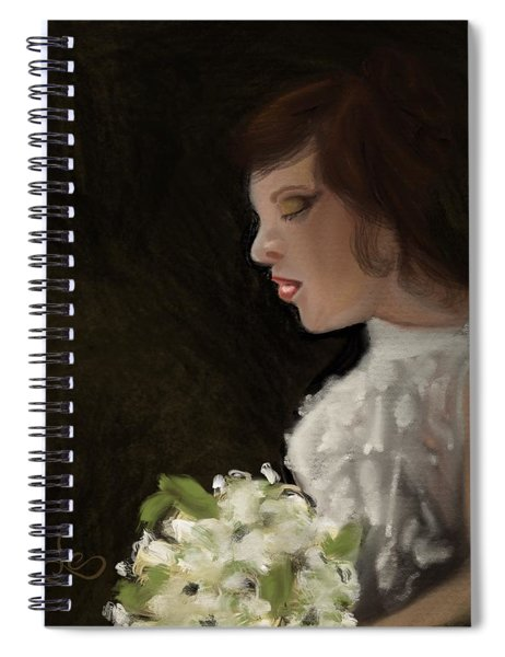 Spiral Notebook featuring the painting Her Big Day by Fe Jones