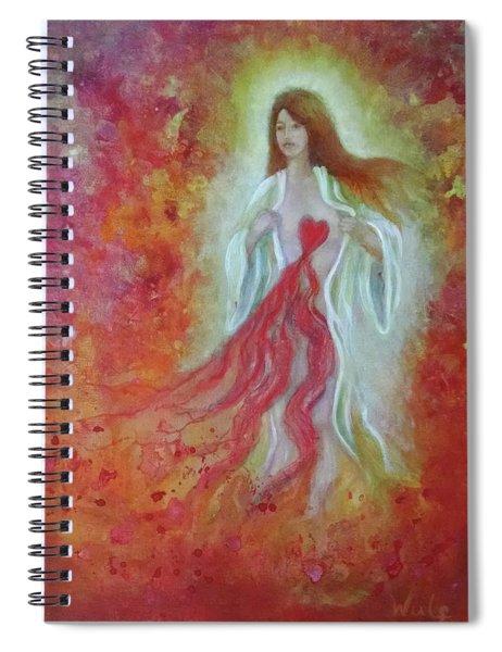 Her Heart Bleeds Spiral Notebook