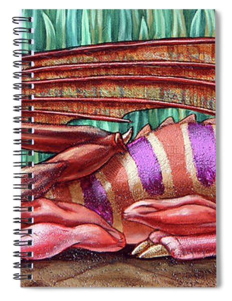 Herbal Dragon Spiral Notebook