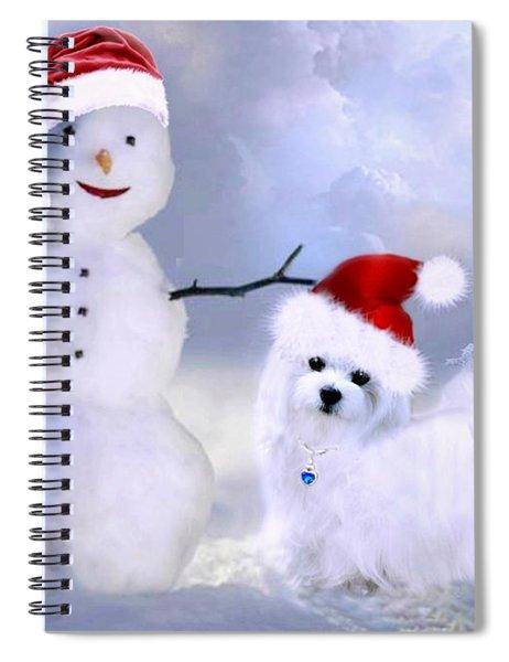 Hermes And Snowman Spiral Notebook