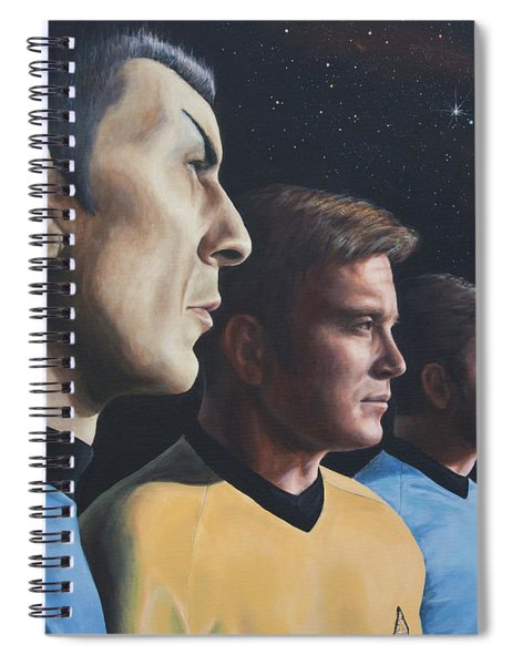 Heroes Of The Final Frontier Spiral Notebook