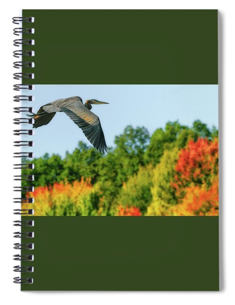 Heron In Autumn  Spiral Notebook